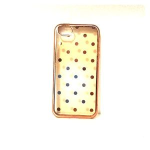 Accessories - 🌿 ROSE GOLD POLKA DOT IPHONE 5S CASE 🌿